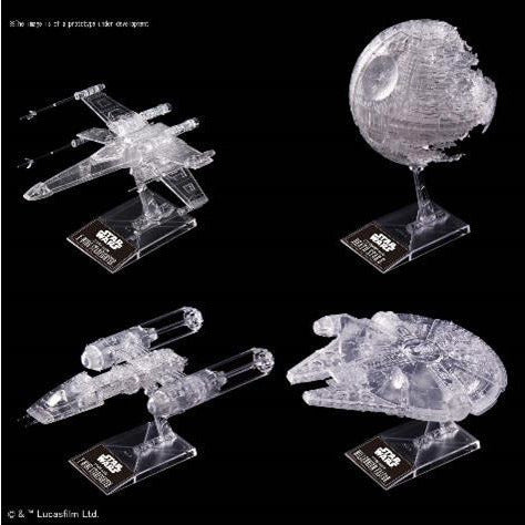 BANDAI STAR WARS CLEAR VEHICLE SET