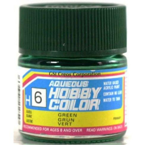 Image of MR HOBBY Aqueous Gloss Green - H006 - Alternative to X-5
