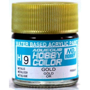 MR HOBBY Aqueous Metallic/Gloss Gold - H009