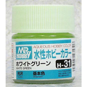 MR HOBBY Aqueous Gloss White Green - H031
