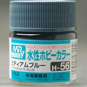 MR HOBBY Aqueous Semi-Gloss Interm Blue - H056