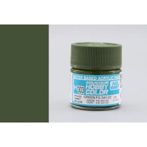 Image of MR HOBBY Aqueous Semi-Gloss Green 34102 - H303