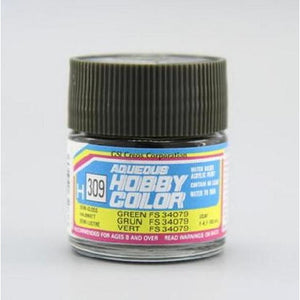 MR HOBBY Aqueous Semi-Gloss Green FS 34079 - H309