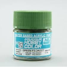 Image of MR HOBBY Aqueous Semi-Gloss Green FS 34227 - H312