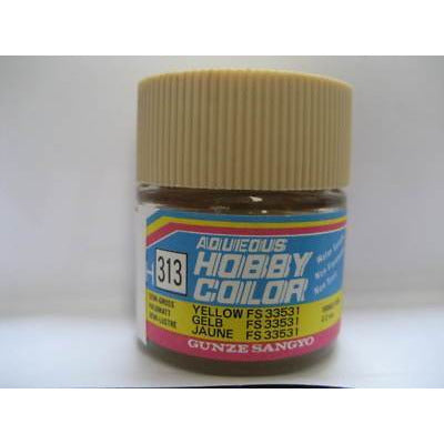 Image of MR HOBBY Aqueous Semi-Gloss Yellow FS33531 - H313