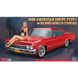 Hasegawa 1/24 1966 AMERICAN COUPE TYPE I w/BLOND GIRL'S FIGURE (H52202)