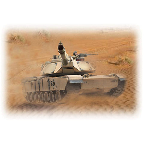 Image of HOBBY ENGINES ECONOMY VERSION M1A2 ABRAMS TANK SAND COLOUR