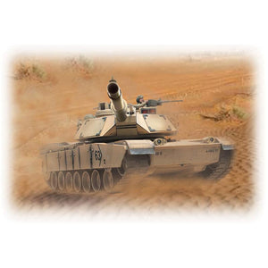 HOBBY ENGINES ECONOMY VERSION M1A2 ABRAMS TANK SAND COLOUR