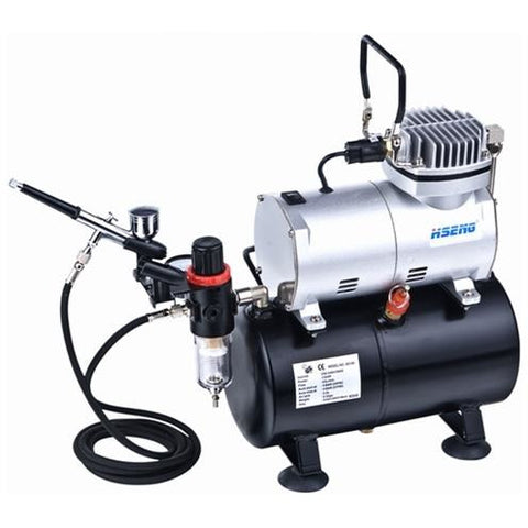 HSENG AIRCOMP WITH TANK/HOSE/AIR-BRUSH