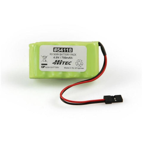 HITEC Reciever Nimh Battery Pack 4.8v. 750mah (Flat Type) (