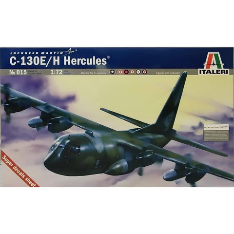 ITALERI 1/72 C-130 E/H Hercules Plastic Model Kit *Aust Dec