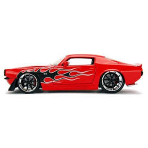 JADA 1:24 1971 Chevrolet Camaro SS - Red w/Flames