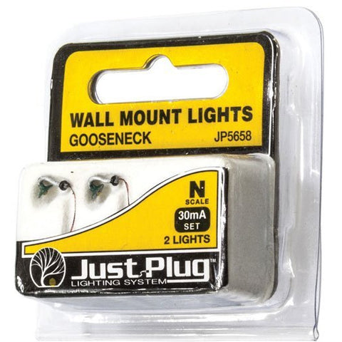 WOODLAND SCENICS N Gooseneck Wall Mount Lights