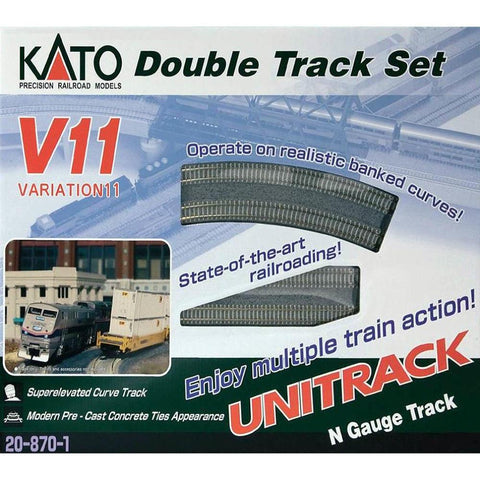KATO N - Unitrack Viaduct Variation Set V11 Track Set