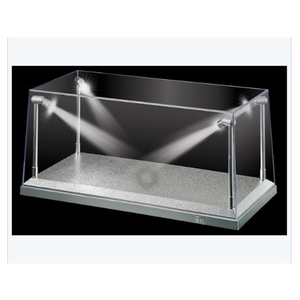 KING CREATION 1:18 White LED Display Case (L) 35.5cm x (W)