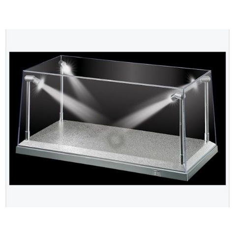 KING CREATION 1/18 White LED Display Case (L) 35.5cm x (W)