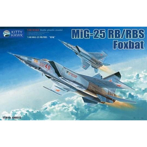 "KITTY HAWK 1/48 MiG-25RB/RBS ""Foxbat-B/D"" (KH80113)"