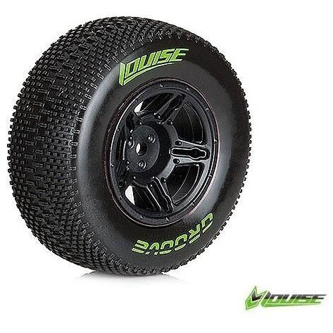 LOUISE SC-GROOVE 1/10 SOFT REAR TIRES/WHEELS