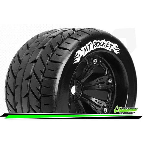 Image of LOUISE MT-ROCKET 1/8 MONSTER TRUCK TYRES BLACK