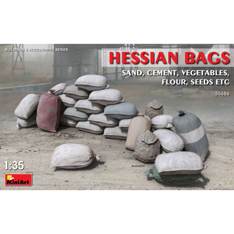 MINIART 1/35 Hessian Bags (sand, cement, vegetables, flour,