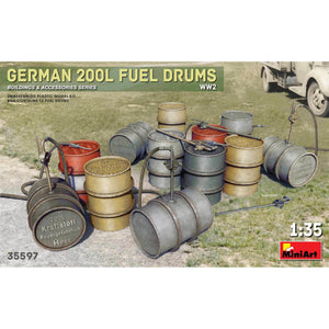 MINIART 1/35 German 200L Fuel Drum Set WW2