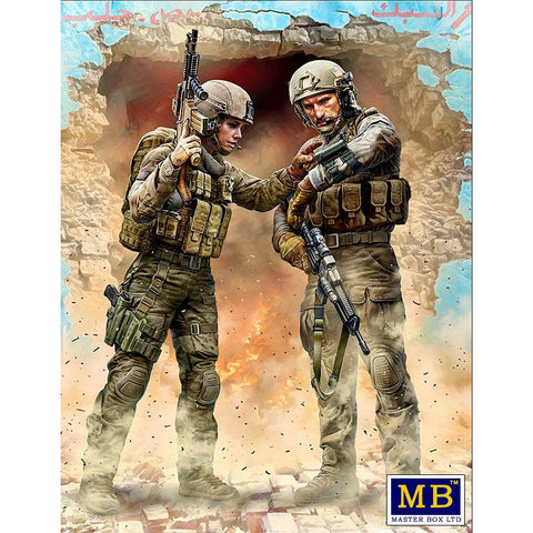 MASTER BOX 1/24 Modern War Series, kit No. 1. Our route has