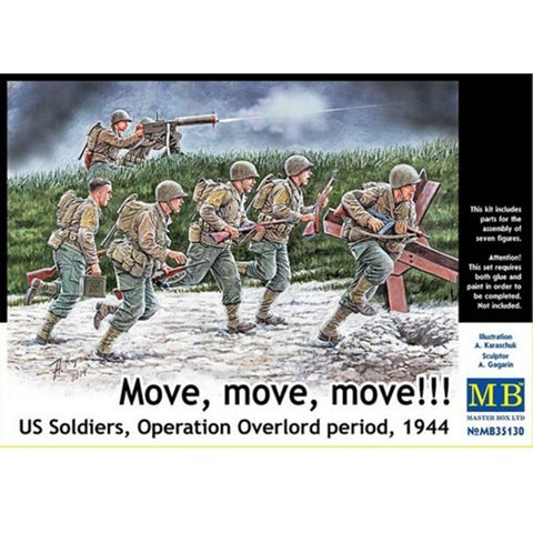 MASTER BOX 1/35 US Soldiers OpOverlord 'Move!Move!'