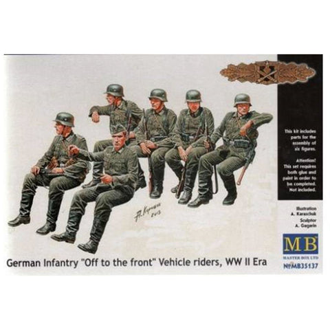 MASTER BOX 1/35 Ger. Inf. 'Off to The Front' WW2