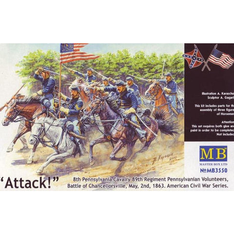 MASTER BOX 1/35 Us Civil War: 8th Pennsylvania Cav