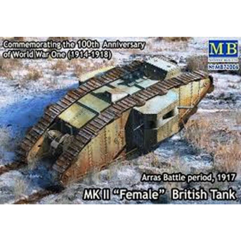 MASTER BOX 1/72 Mk2 Female TankBattle of Arras 1917