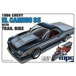MPC 1/25 1986 Chevy El Camino SS w/Dirt Bike Plastic Kit