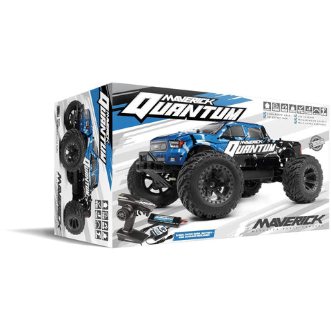 Maverick Quantum MT 1/10 4wd Electric Monster Truck (Black/Blue)
