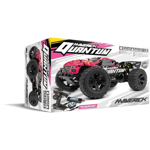 MAVERICK Quantum XT 1/10 4wd Electric Truggy (Pink/Yellow)