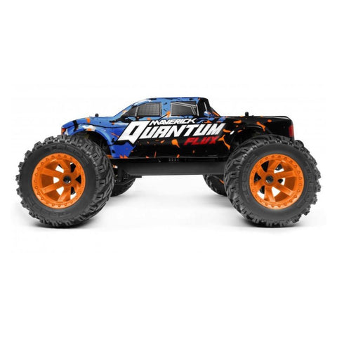 MAVERICK MV150200 Quantum MT 1/10 4WD Flux Brushless Electric Monster Truck (Blue/Orange)