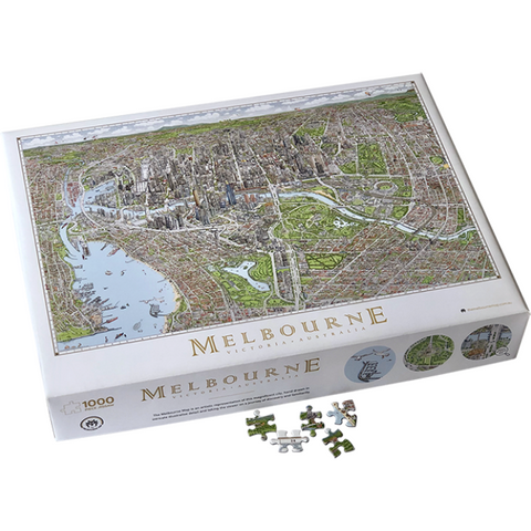 The Melbourne Map 1000pcs Jigsaw Puzzle