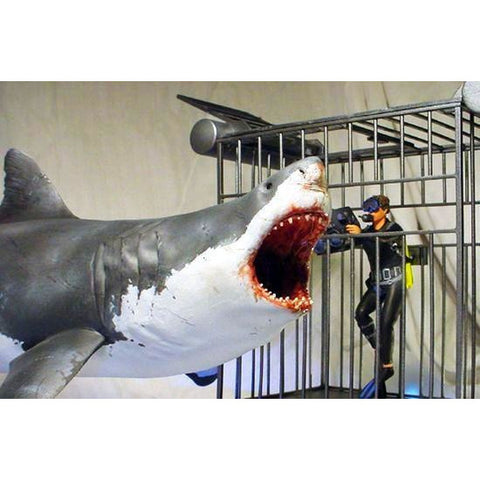 PEGASUS GREAT WHITE SHARK, CAGE & DIVER 1/18 KIT - Hearns Hobbies Melbourne - Pegasus Hobbies - 1