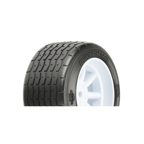 PROTOFORM VTA REAR TYRES 31MM MOUNTYED ON WHITE WHEELS - PR