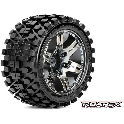 Roapex RHYTHM 1/10 STADIUM TRUCK TIRE CHROME