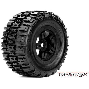 ROAPEX Renegade 1/8 Monster Truck Tyres Black Wheel