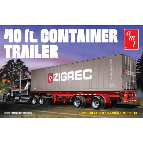 AMT 1/24 40ft Semi Container Plastic Kit
