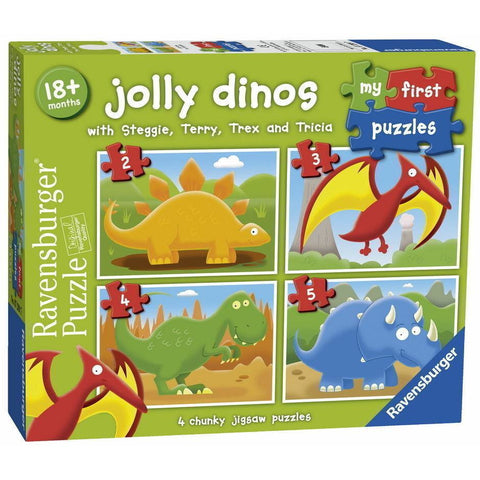 Ravensburger - Jolly Dinos My First Puzzle 2 3 4 5pc (RB072
