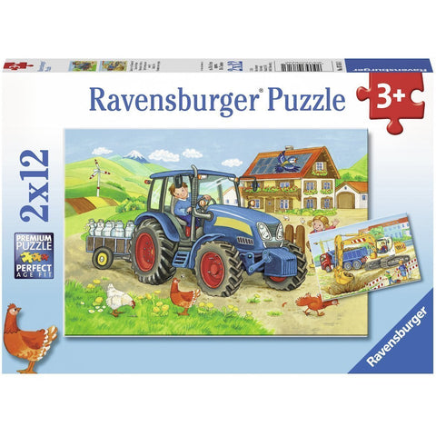 Ravensburger Hard at Work Puzzle 2x12pc