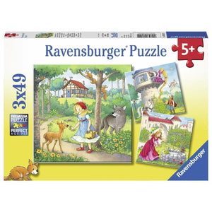 Rburg - Rapunzel Riding Hood and Frog 3x49pc