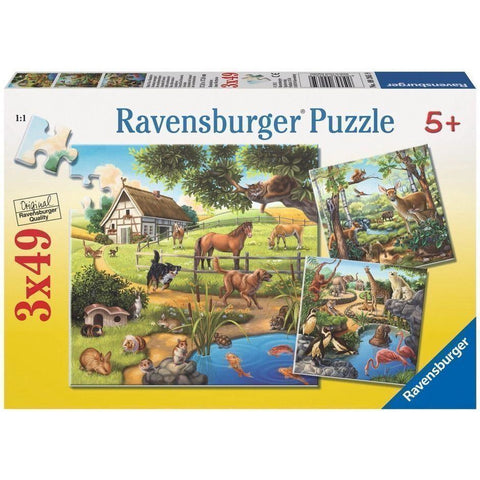 Rburg - Forest Zoo & Pets Puzzle 3x49pc
