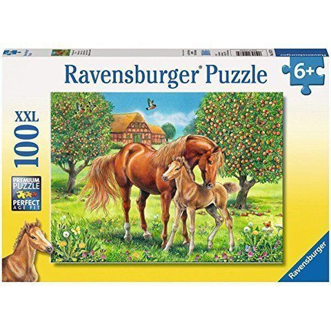Ravensburger Horses in the Field Puzzle 100pc (RB10577-9)