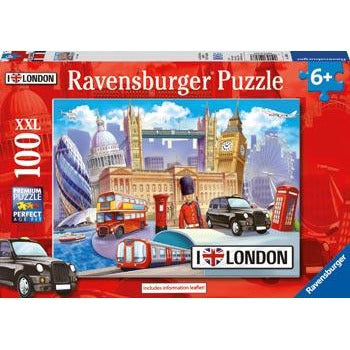 Ravensburger - I Love London Puzzle 100pc (RB10607-3)