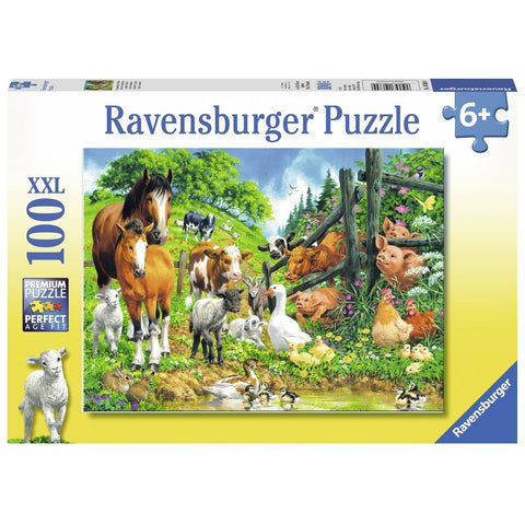 Ravensburger Animal Get Together Puzzle 100pc (RB10689-9)
