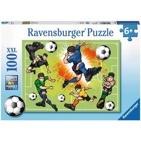 Ravensburger Soccer Fever Puzzle 100pc (RB10693-6)
