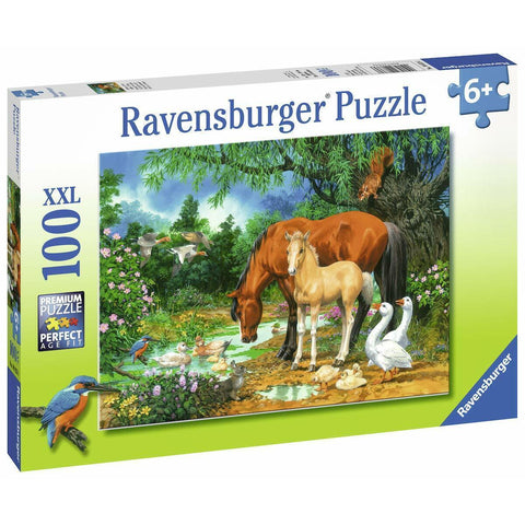 Ravensburger Ponies at the Pond Puzzle 100pc (RB10833-6)