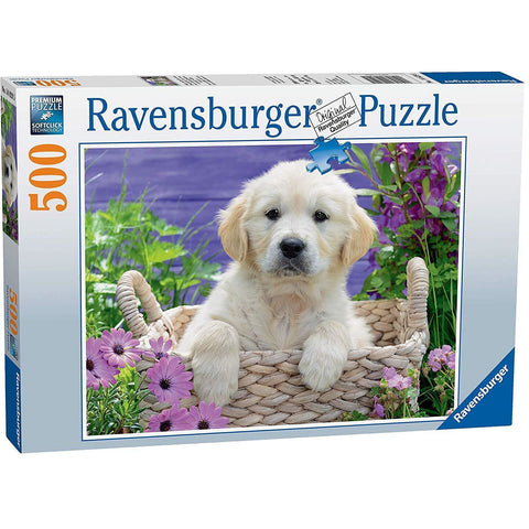 RAVENSBURGER - Sweet Golden Retriever Puzzle 500pc